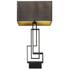 "Contemporary Handcrafted Table Lamp ""Ilios"" in Brass and Marble 1stdibs New York"