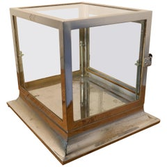 Art Deco Chrome and Glass Cabinet