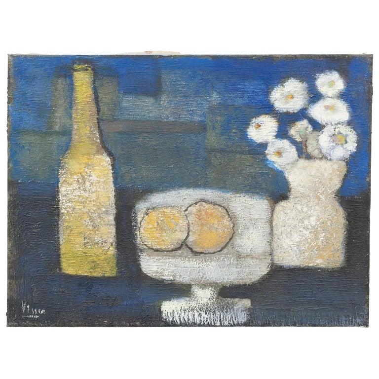 Still Life in Oil on Canvas, G.P. Visser For Sale
