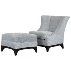 Holly Hunt Chair and Ottoman by John Hutton, 2000s