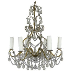 6-Light Italian Crystal Beaded Chandelier