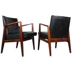 Pair of Classic Occasional Lounge Chairs by Jens Risom