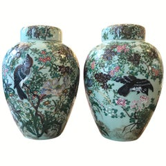 Pair of Chinese Porcelain Ginger Jars Tea Jars
