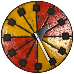 1960s Italian Ceramic Wall Clock by Bitossi & George Nelson