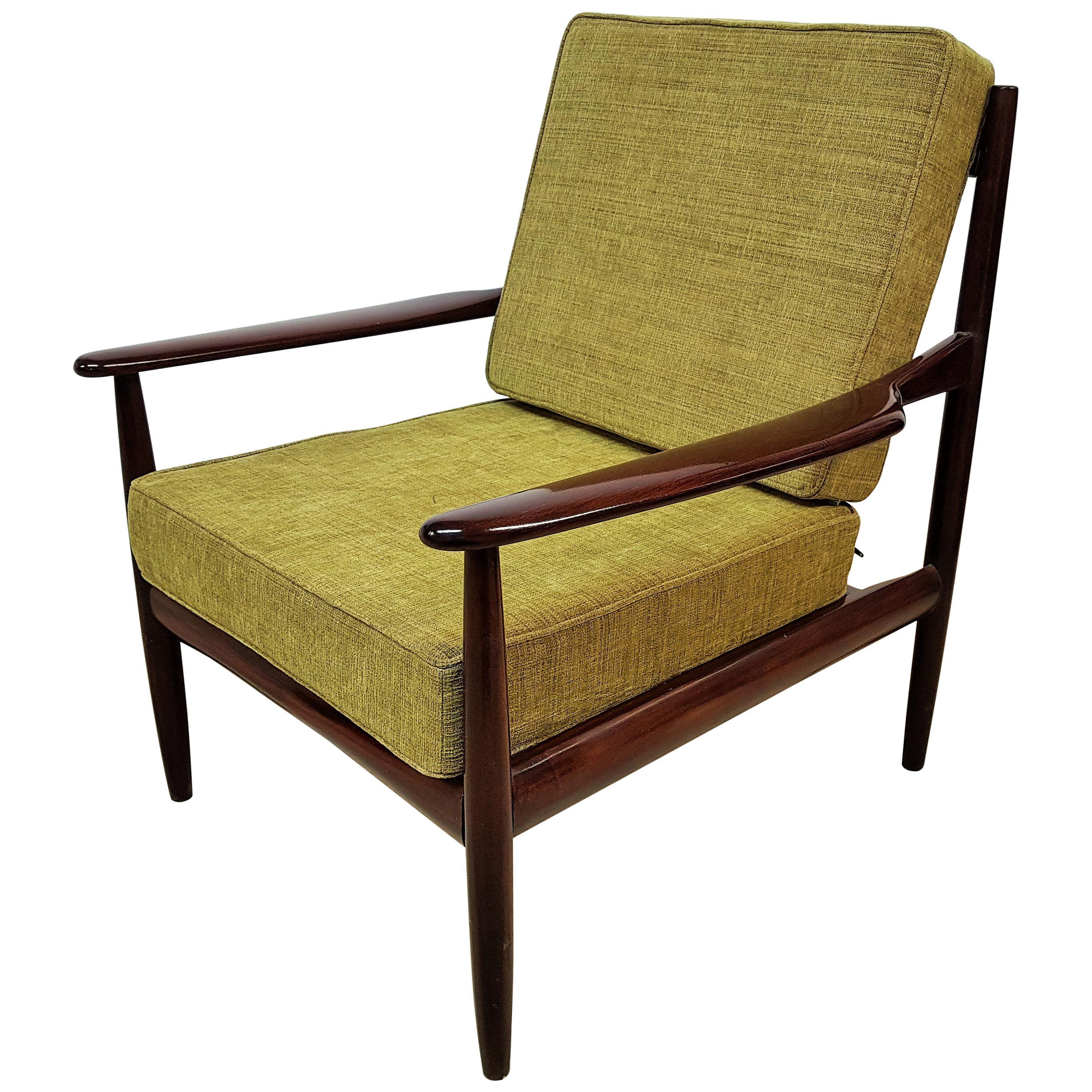 Midcentury Danish Teak Lounge Chair by Grete Jalk