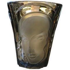 Art Deco Glass Vase by Ogetti