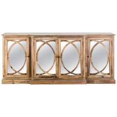 Wooden and Mirror Sideboard