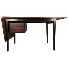Danish Drop Leaf Desk in Rosewood by Arne Vodder for Sibast