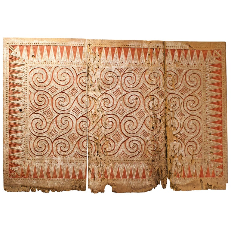 Andrianna Shamaris Ancient Hand Carved Panel Symbolizing Peace and Happiness
