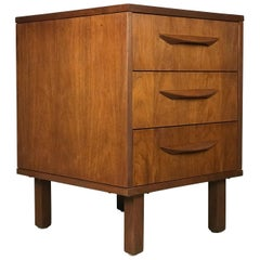 1960s Petite Low Chest in Walnut by Jens Risom