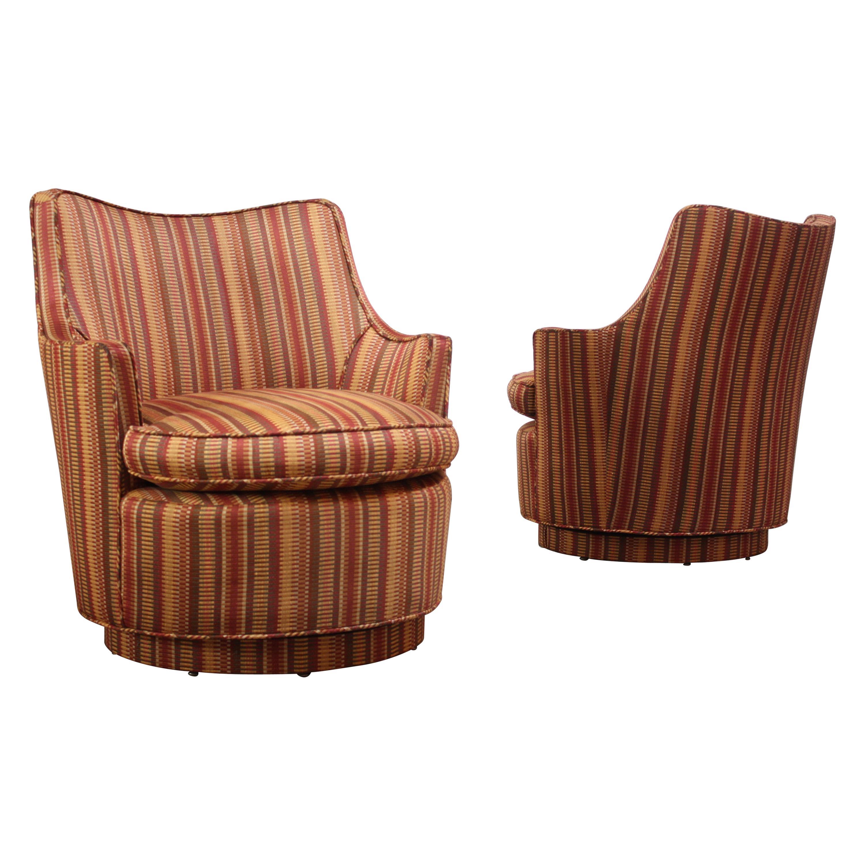 Pair of Mid-Century Modern Diminutive Swivel Chairs