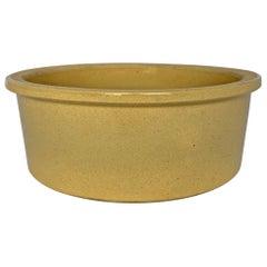 Large Early 20th Century Stoneware Dog Bowl