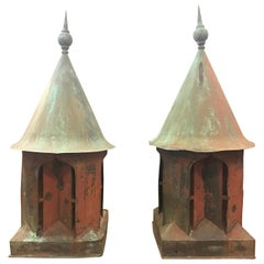 Large Pair of Antique English Copper Cupos, circa 1850-1960