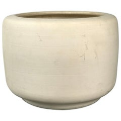 "Architectural Pottery ""Tire"" Planter in Bisque by John Follis & Rex Goode"