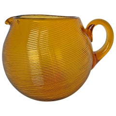 Mid-20th Century American Amber Glass Pitcher
