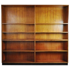Rud. Rasmussen Bookcase in Two Sections Made of Solid Mahogany