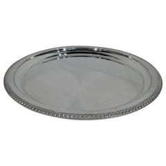 Gorham Deep and Round Sterling Silver Serving Tray