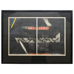 1960s Abstract Serigraph with Provenance by Listed Artist George Nama, New York