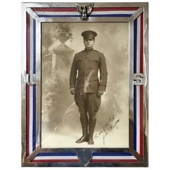 US Military Sterling Eagle Motif Frame, WWI Era, by Theodore B. Starr