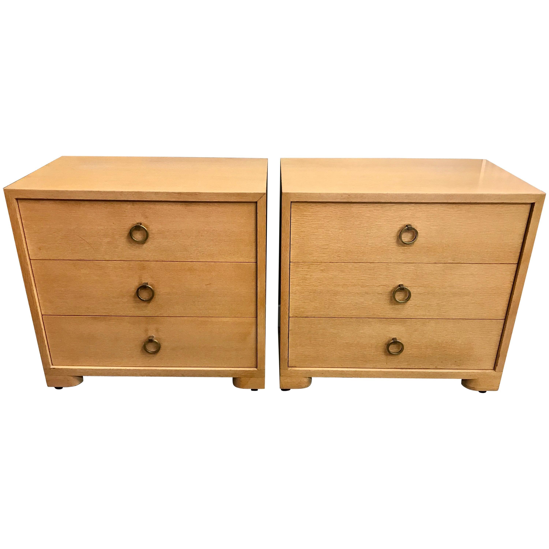 Pair of Robsjohn Gibbings Mid-Century Modern Dressers Chest of Drawers