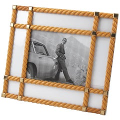 Italian Designer Noel BC Large Blond Carved Wood Picture Photo Frame