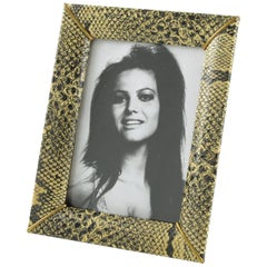 French Picture Photo Frame 1960s Vinyl Snake Skin Pattern