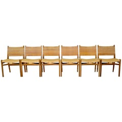 Set of 6 CH31 Oak and Cane Chairs by Hans J. Wegner, 1960s, Carl Hansen & Son