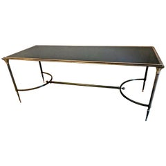 Maison Baguès Bronze and Glass Coffee Table