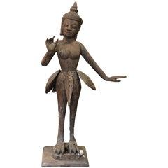 Antique Thai Carved Garuda Sculpture