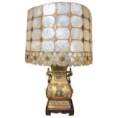 Vintage Mid Century Modern Oriental Br Table Lamp