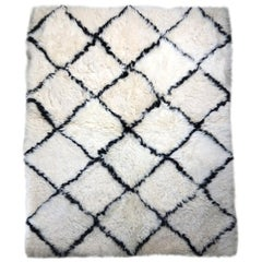 Designer Patchwork Sheepskin Rug Bohemian Diamond Pattern Made in Australia