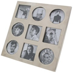 Christian Dior Paris 1970s Silver Plate Picture Photo Frame Multiple Views