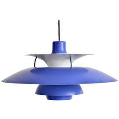 Blue Poul Henningsen PH 5 Pendant Lamp by Louis Poulsen, Denmark