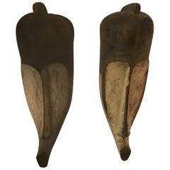 Pair of Vintage Cameroon Fang Masks