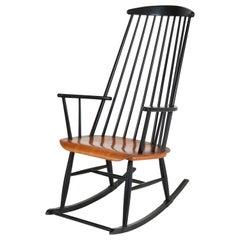 """Mitte des Jahrhunderts Modern """"Mademoiselle"""" Rocking Chair von Ilmari Tapiovaara, 1960er Jahre"""