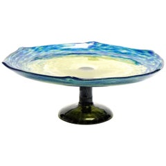 French Art Deco Jade Footed Bowl by Schneider