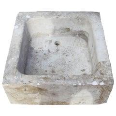 19th Century Antique Spanish White Marble Sink