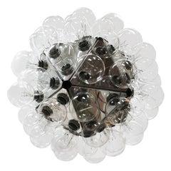 Archille Castiglioni Modern Aluminum and Glass Taraxacum88 Italian Ceiling Lamp