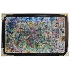 Marck Art Contemporary Sicilian Artist Multi-Color Polystyrene Acrylic Gesso