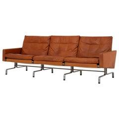 PK 31/3 Three-Seat in Orginal Leather by Poul Kjærholm