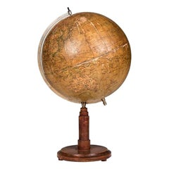 19th Century Russian World Globe Made in Germany by Syrkin GmbH