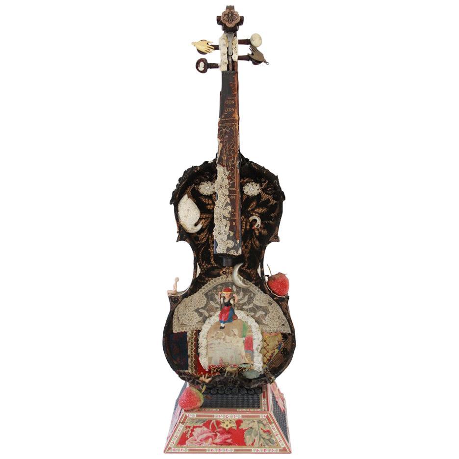 Violin and Cigar Box Sculpture