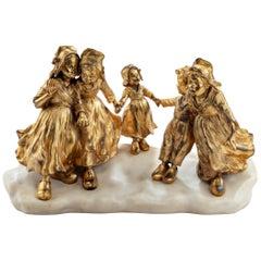 Gilt Bronze Group of Dutch Children by Foste
