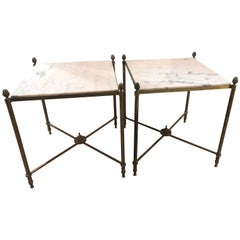 Pair of 1950s Side Tables Attributed to Maison Jansen