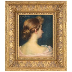 Oil on Canvas of the 19th Century, Signed Bouvier, 1890