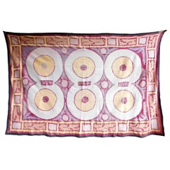 Suzani Samerand Wall Hanging Tapestry Raspberry, Peach and Lavender Embroidery