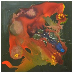 Large British, 1990s Brutalist Abstract Painting