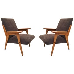 "Franz Schuster Lounge Chairs ""Architect"" Pair, Austria, 1950s"
