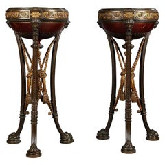 Pair of Napoléon III Bronze Athéniennes Attributed to Barbedienne, circa 1870