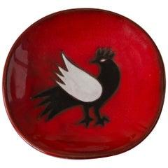 Jean Picart Le Doux, 'Oiseau' Ceramic Plate, 1960s